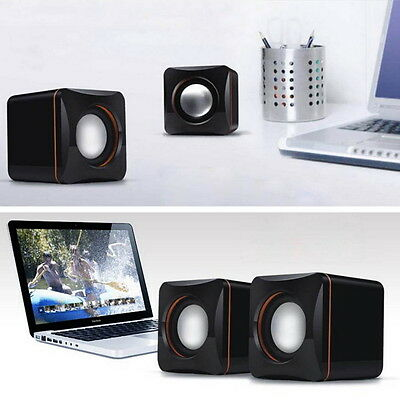 Mini Portable USB Audio Music Player Speaker for iPhone iPad MP3 Laptop PC JU