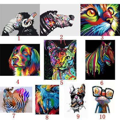 40*50cm DIY Animals Paint By Number Kit Digital Oil Painting Canvas No Framed