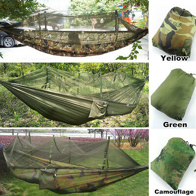 Outdoor Jungle Camping Mosquito Hammock Hanging Swing Bed Sleeping Bed