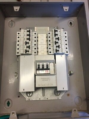 Eaton/Mem BM41 Distribution Board 4 way 3 phase 100amp With Single Mcbs