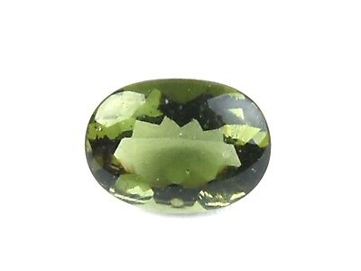 1.51cts OVAL 7x9mm moldavite TUMBLED cutted gem BRUS1628