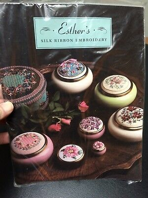 """New in Plastic ESTHER""""S SILK RIBBON EMBROIDERY Book"""