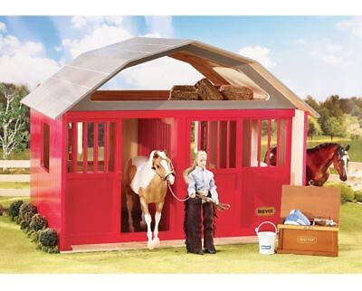 Painted Deluxe Two Stall Barn - Collectible Horses by Breyer (307)