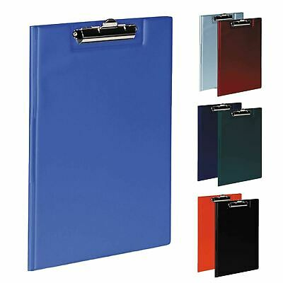 A4 Fold Over Clipboard or Folders Solid Office Document Storage Paper Pen Holder