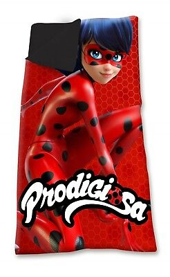 Miraculous Ladybug Camping Bedroom Sleeping Bag Bed with Carry On Pouch OFFICIAL