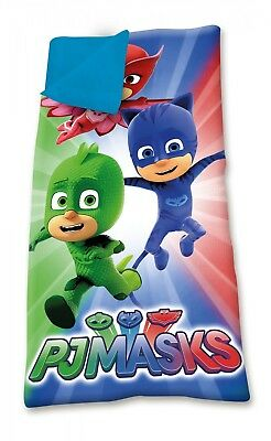 PJ Masks Camping Bedroom Sleeping Bag Bed with Carry On Pouch OFFICIAL