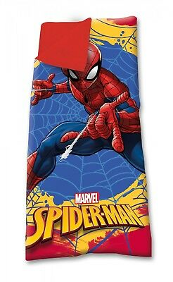 Marvel Spider Man Camping Bedroom Sleeping Bag Bed with Carry On Pouch OFFICIAL