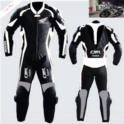 1-Piece Suit Cbr Motorbike Leather Suit Men Leather Motorcycle Suit Jacket Pant