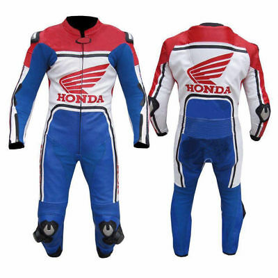 MOTORBIKE LEATHER SUIT MEN LEATHER SUIT MOTORCYCLE RACING JACKET PANT ONE Piece