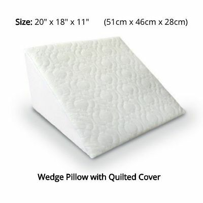 Large Wedge Pillow Bed Support Flex Foam Acid Reflux Back Leg Neck Cushion Raise