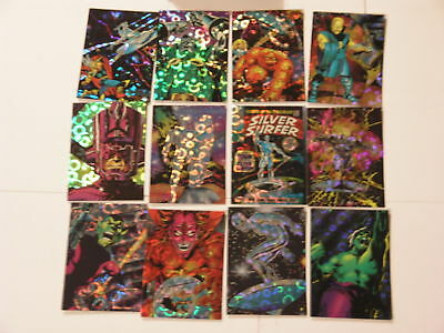 TC 1992 Marvel Silver Surfer Set 72 Prisma Cards