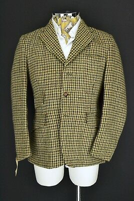 "Dunn & Co Harris Tweed Hacking Jacket Blazer 3 Button 38"" Regular"
