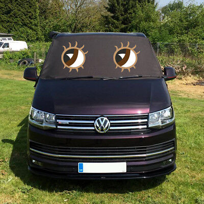 VW Transporter T6 Window Screen Curtain Cover Wrap Frost Blinds Eyes Brown