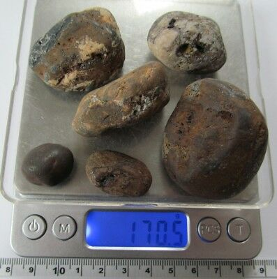 RAW ,ROUGH, UNKNOWN, NATRUAL,HEMETITE??,ROCKs, STONEs,lot of 6      170.0gr