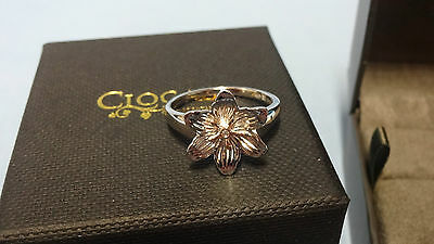 Clogau Dwynwen Mother of Pearl Ring - Size O lWy0pi7