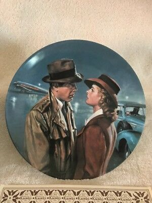 Casablanca Heres Looking At You Kid Collector Plate Signed James Griffin
