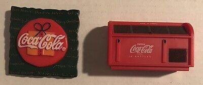 Coca Cola Magnet Lot Of 2 Chest Style 1997 Christmas 1996 Coke