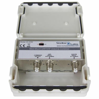UHF / VHF Antenna Signal Combiner with F Connection