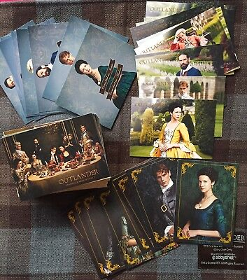 OUTLANDER Second Season Complete Set 99 Trading Cards Base e Chase Card Figurine