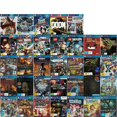 🎮PlayStation 4 PS4 ●● ASSORTED AWESOME GAME TITLES ●● Your Choice 20/02/18