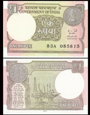 INDIA 1 Rupee, 2015-2016, P-108, UNC World Currency