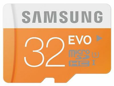 32GB Samsung EVO 95MB/s MicroSD SDHC UHS-I Class 10 Memory Card + SD ADAPTER