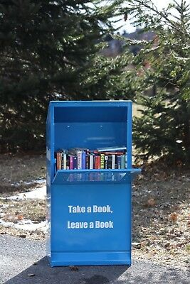 "Little Free Library Box ""new Model-Deluxe Features"" Holds Stacks Of Books!!"