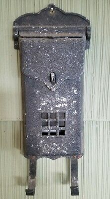 Vintage Visible Cast Aluminum Black Paint Mailbox. With News Paper Loops.