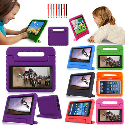 "Kids Handle EVA Shockproof Foam Stand Case Cover For Amazon Kindle Fire 7""/HD 8"""