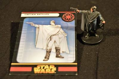 Star Wars Miniatures Revenge Of The Sith Game Captain Antilles Figure W/Card #6