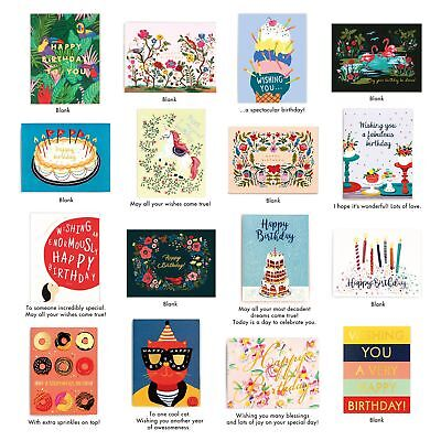 Minimalmart Birthday Cards Box Set Of 32 Assorted Premium With GOLD