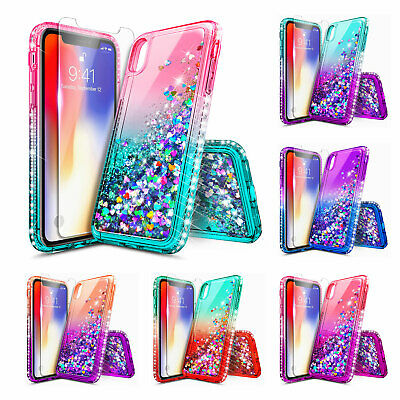 iPhone 8 Plus 7 Plus 8 7 6 Xs XR Xs Max Case | Liquid Glitter Bling Cute Cover