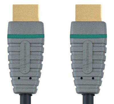 Bandridge Cable HDMI con Ethernet, 2 metros de largo, color azul, chapado en oro