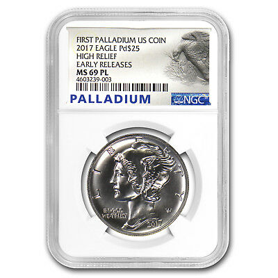 2017 Palladium Eagle MS-69 PL NGC (Early Releases, Prooflike) - SKU#159350