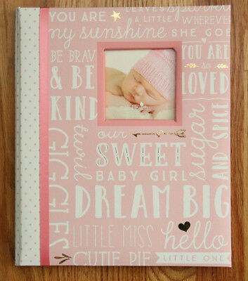 Pearhead L'il Peach Baby Girl Memory Book ~Pink, White & Gold ~ sweet baby girl