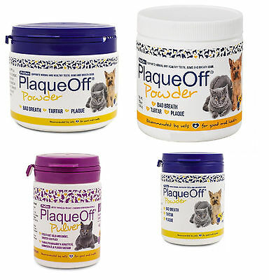Plaque Off Powder For Dogs Cats Bad Breath Tooth Tartar Plaque Removal All sizes