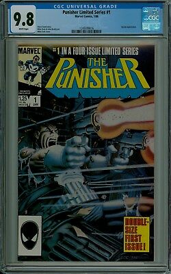 The Punisher #1 Limited Series CGC 9.8 mint white pages Marvel comics 1249399016