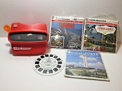 Vintage VIEW-MASTER + reels (Florida,Cypress Gardens,Citrus Tower) Viewmaster 3D