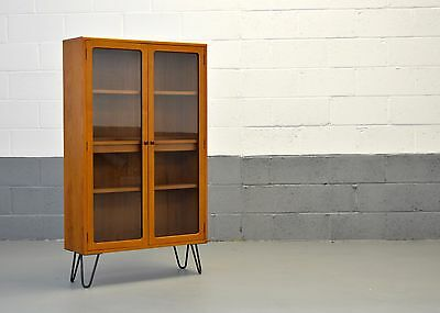 Retro Mid Century G Plan Fresco Scandinavian Teak Bookcase Shelves Hairpin Legs