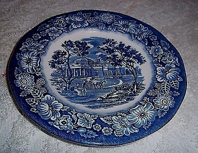 """Vintage LIBERTY BLUE CHINA """"MONTICELLO"""" BREAD & BUTTER PLATE ~ 5 7/8"""" Wide"""