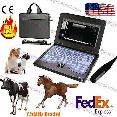 Veterinary portable Ultrasound Scanner Machine For cow/horse/Animal,7.5M Rectal