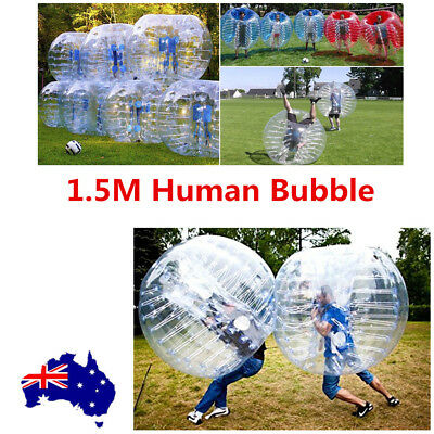 1.5M PVC Inflatable Body Bubble Soccer Ball Bumper Zorb Ball Football Outdoor AU