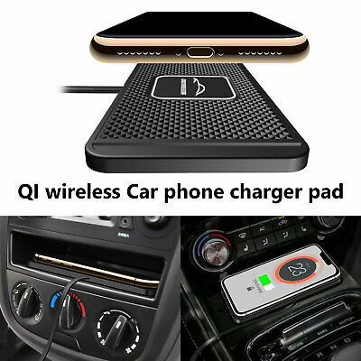 Qi Wireless Car Fast Charger Magnetic Holder For Samsung Galaxy S9 S8 iPhone 8 X