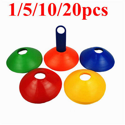 1-20X Football Sports Training Discs Markers Cones Soccer Exercise Space Mark XA