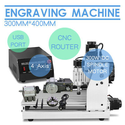 Top Usb Cnc Router Engraver Engraving Cutter 4 Axis 3040 T-Screw Desktop Cutting