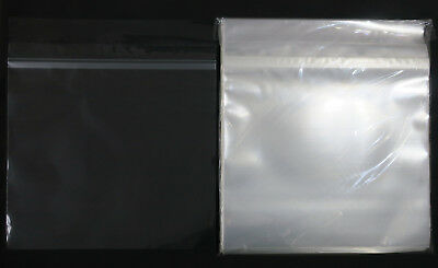 """100x 12"""" Vinyl LP Sleeves Sealable Crystal Clear Blake 75µm PP Record Cover"""