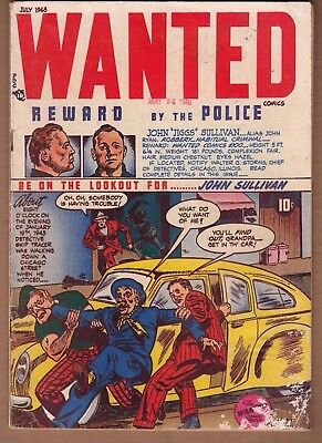 "WANTED #14 (Toytown-1948) ""Marijuana Story"" VG Solid!   -combine ship-"