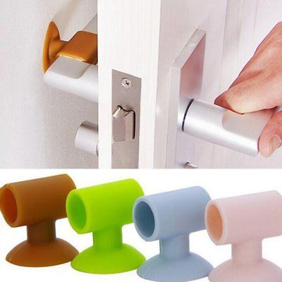 2PC Sucker Mute Anti-collision Protective Pad Cushion Mate Safety Door Handle X4