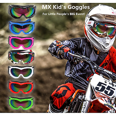 UNISEX KIDS Windproof PW Bicycle MX PeeWee ATV Quad Motorcycle offroad GOGGLES
