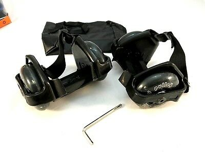 Small Whirlwind Pulley Detachable Roller Skates with LED Light black XMAS PRESEN